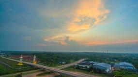 Третий мост тайских и Lao приятельства Стоковое Фото