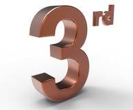 Третий символ места Стоковые Фотографии RF