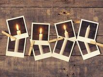 Третье горение свечи, предпосылка пришествия Стоковые Изображения
