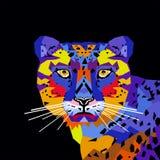 Треугольники искусства шипучки портрета тигра illustrtion вектора стоковые изображения