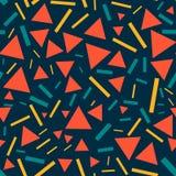 Треугольники и линии - безшовная картина иллюстрация штока