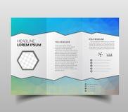 Треугольники шаблона дизайна брошюры полигональные trifold абстрактные, современный шаблон представления треугольника Предпосылка иллюстрация вектора