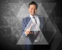 Треугольник бизнесмена касающий Стоковое Изображение RF