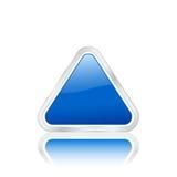 треугольник иконы 2 син Стоковое Изображение RF