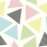 треугольник картины безшовный Предпосылка вектора Геометрическая абстрактная текстура Стоковые Фото
