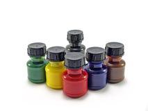 треугольник краски бутылок Стоковое Изображение RF