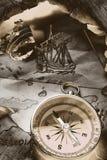 треугольник сказания Бермудских островов Стоковое фото RF