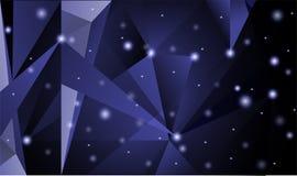 Треугольник сформировал пирамиду которая кажется загадочной абстрактная предпосылка иллюстрация вектора