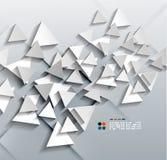 Треугольники бумаги вектора 3d Стоковые Изображения RF