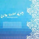 Треугольники и заводы предпосылки голубые Стоковое Фото
