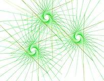 Треугольники и лучи фрактали красочные иллюстрация вектора
