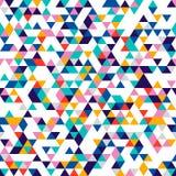 треугольники картины безшовные Равновеликая геометрическая текстура Стоковое фото RF