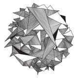 Треугольник предпосылки абстрактного геометрического битника картины ретро иллюстрация вектора