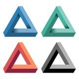 Треугольник Penrose также вектор иллюстрации притяжки corel Стоковые Фотографии RF