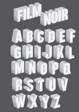 Трехмерный ретро алфавит вектора иллюстрация штока
