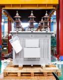 Трехфазным рифлёным тип герметически закрыванный ребром погруженное масло Стоковые Фотографии RF