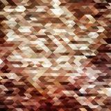 Триангулярная абстрактная предпосылка мозаики poligonal в коричневых цветах Стоковые Изображения RF