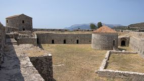 Триангулярная крепость паши Али в Butrint, Албании Стоковое Изображение RF