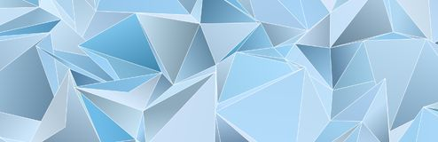 Триангулярное 3d, современная предпосылка Стоковые Фото