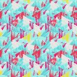 Триангулярная безшовная предпосылка геометрическая картина безшовная Стоковое фото RF