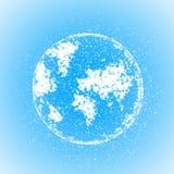 Триангулярная иллюстрация глобуса мира вектора Стоковое Изображение RF