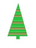 Триангулярная рождественская елка с геометрическими дизайнами Стоковое Изображение