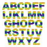 Триангулярные письма Стоковая Фотография RF
