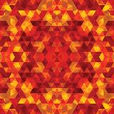Триангулярный апельсин BackgroundÂŒ мозаики бесплатная иллюстрация