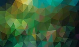 Триангулярный зеленый цвет предпосылки Стоковые Изображения RF