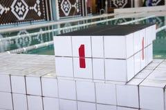 Трибуна с бассейном одно Стоковое фото RF