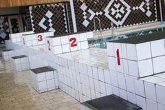 Трибуны в бассейне Стоковое Изображение RF