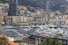 Трибуны Formule i около гавани Монако Стоковое фото RF