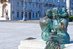 Триест, архитектуры и искусства стоковое изображение