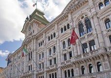 Триест - здание муниципалитет стоковое изображение