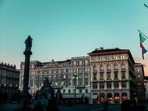 Триест  Италия  на заходе солнца стоковая фотография