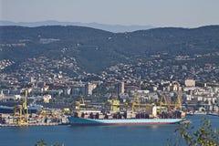 Триест, новая гавань Стоковое Фото