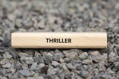 ТРИЛЛЕР - изображение при слова связанные с КИНО темы, слово, изображение, иллюстрация стоковое фото