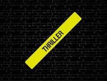 ТРИЛЛЕР - изображение при слова связанные с КИНО темы, слово, изображение, иллюстрация стоковое изображение rf