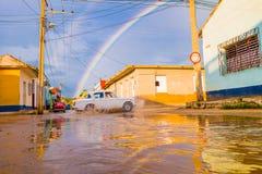 ТРИНИДАД, КУБА - 8-ОЕ СЕНТЯБРЯ 2015: Затопленный стоковая фотография