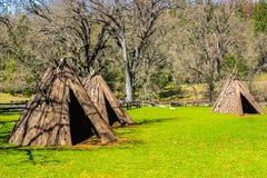Трио американских индийских Tepees Стоковое Фото