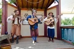 Трио музыканта ренессанса Стоковая Фотография RF