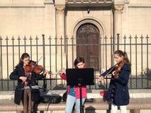 Трио музыки улицы классическое стоковые изображения rf