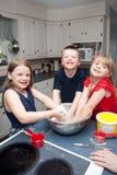 Трио печь детей Стоковые Фотографии RF