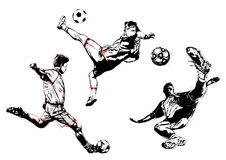 Трио футбола Стоковые Фото