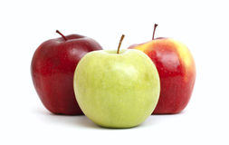 трио яблок Стоковое Фото