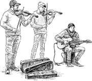 трио buskers иллюстрация штока