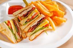 триппель сандвича decker клуба Стоковые Фото