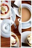Триптих послеполуденного чая Стоковая Фотография