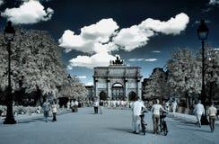 Триумфальная Арка du carrousel в Париже Стоковая Фотография RF