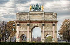 Триумфальная Арка du Carrousel Стоковые Фото